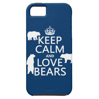 Keep Calm and Love Bears (in all colours) iPhone SE/5/5s Case
