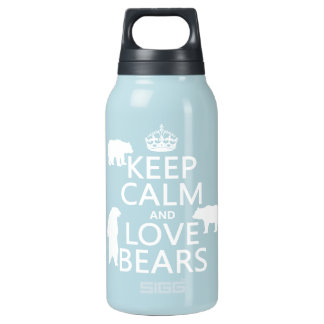 Keep Calm and Love Bears (in all colours) SIGG Thermo 0.3L Insulated Bottle