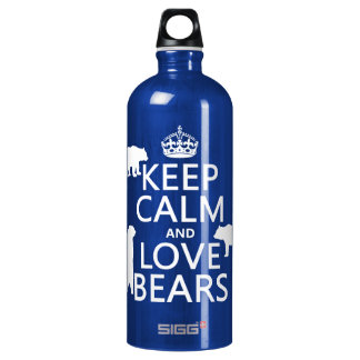 Keep Calm and Love Bears (in all colours) SIGG Traveler 1.0L Water Bottle