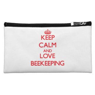 Keep calm and love Beekeeping Cosmetic Bag