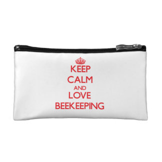 Keep calm and love Beekeeping Makeup Bag