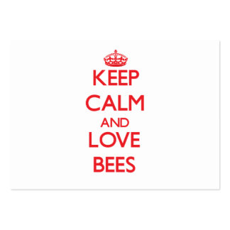 Keep calm and love Bees Business Card