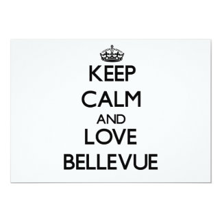 Keep Calm and love Bellevue Card