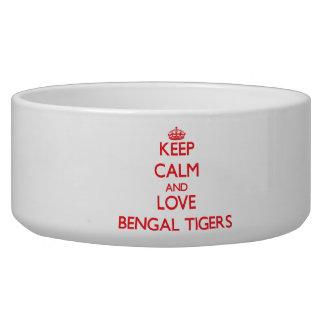 Keep calm and love Bengal Tigers Pet Food Bowl