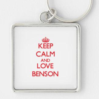 Keep calm and love Benson Key Chain