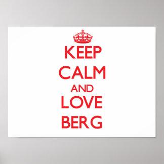 Keep calm and love Berg Print