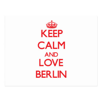Keep Calm and Love Berlin Postcards
