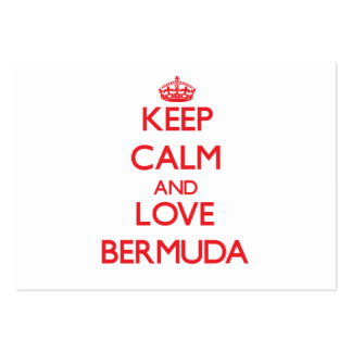Keep Calm and Love Bermuda Business Card