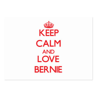 Keep Calm and Love Bernie Large Business Cards (Pack Of 100)