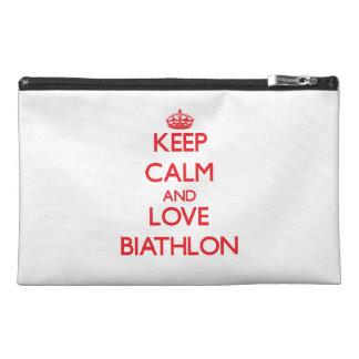 Keep calm and love Biathlon Travel Accessories Bags