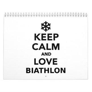 Keep calm and love Biathlon Calendar