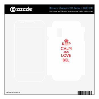 Keep calm and love Biel Samsung Mesmerize Decal