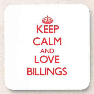 Keep Calm and Love Billings Drink Coasters