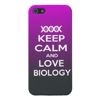 Keep Calm and Love biology Cover For iPhone SE/5/5s
