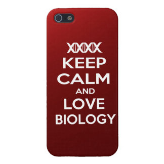 Keep Calm and Love biology iPhone SE/5/5s Case