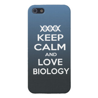 Keep Calm and Love biology iPhone SE/5/5s Cover