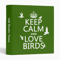 Avery Signature 1' Binder with Keep Calm and Love Birds design