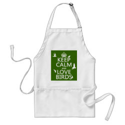 Apron with Keep Calm and Love Birds design