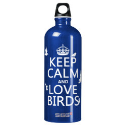 SIGG Traveller Water Bottle (0.6L) with Keep Calm and Love Birds design