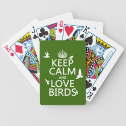 Playing Cards with Keep Calm and Love Birds design