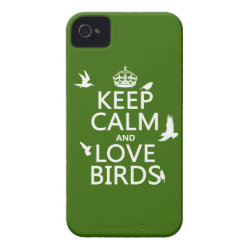 Case-Mate iPhone 4 Barely There Universal Case with Keep Calm and Love Birds design