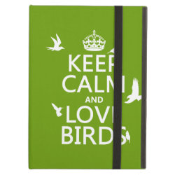 iPad Air Powis Case with Keep Calm and Love Birds design