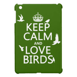 Case Savvy iPad Mini Glossy Finish Case with Keep Calm and Love Birds design