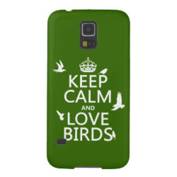 Case-Mate Barely There Samsung Galaxy S5 Case with Keep Calm and Love Birds design