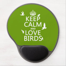 Gel Mousepad with Keep Calm and Love Birds design