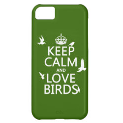 Case-Mate Barely There iPhone 5C Case with Keep Calm and Love Birds design