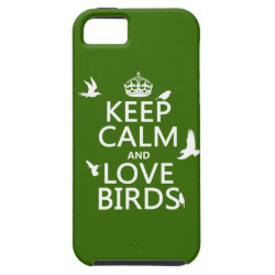 Case-Mate Vibe iPhone 5 Case with Keep Calm and Love Birds design