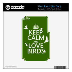 iPod Classic (80/120/160GB) Skin with Keep Calm and Love Birds design
