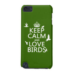 Case-Mate Barely There 5th Generation iPod Touch Case with Keep Calm and Love Birds design