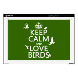 17' Laptop Skin for Mac & PC with Keep Calm and Love Birds design