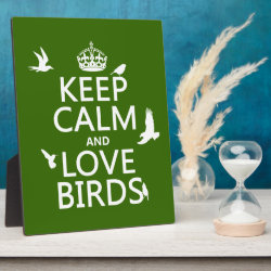 Photo Plaque 8' x 10' with Easel with Keep Calm and Love Birds design