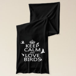 Jersey Scarf with Keep Calm and Love Birds design
