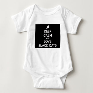 Keep Calm and Love Black Cats Baby Bodysuit