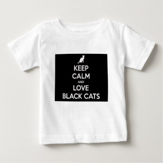 Keep Calm and Love Black Cats Baby T-Shirt
