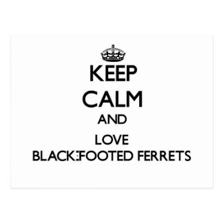 Keep calm and Love Black-Footed Ferrets Post Cards