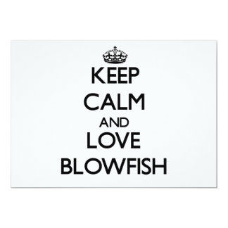 Keep calm and love Blowfish Personalized Announcements