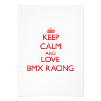 Keep calm and love Bmx Racing Announcements