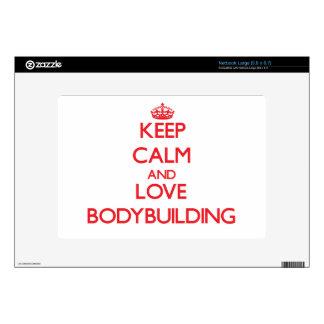 Keep calm and love Bodybuilding Netbook Skin