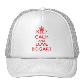 Keep calm and love Bogart Trucker Hat