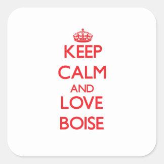Keep Calm and Love Boise Sticker