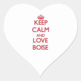 Keep Calm and Love Boise Heart Sticker