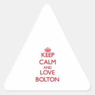 Keep calm and love Bolton Sticker