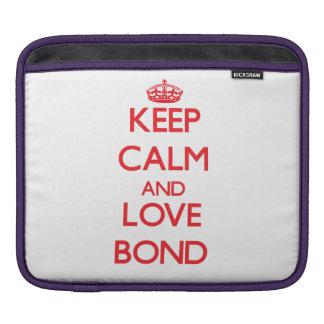 Keep calm and love Bond Sleeve For iPads