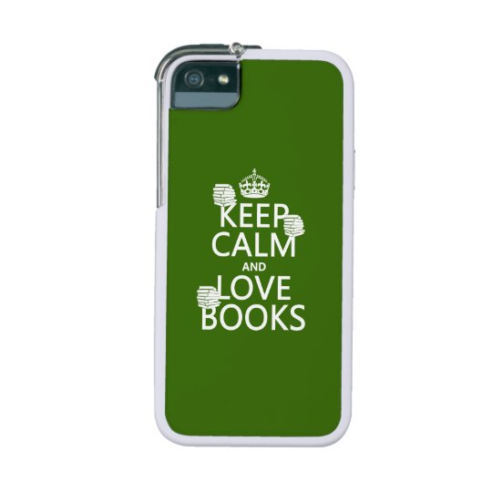 Keep Calm and Love Books (in any color) Case For iPhone SE/5/5s