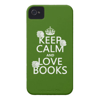 Keep Calm and Love Books (in any color) iPhone 4 Case-Mate Case