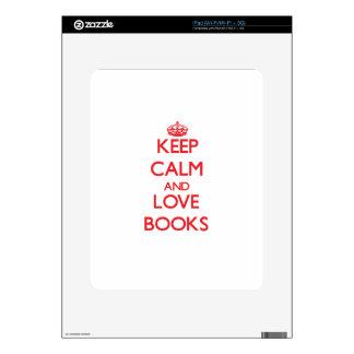 Keep calm and love Books iPad Decal